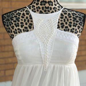 White casual long dress
